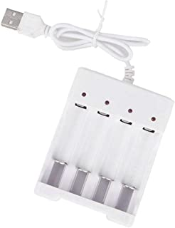 NewIncorrupt Batterijlader voor AA AAA-batterijen 4-poorts Batterijlader met USB-stekker Universele accessoires voor elekt...