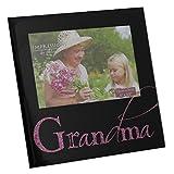 Grandma 12,7 cm x 8,89 cm negro marco de espejo de escobillero y portarrollo de regalo con texto en inglés de marcos de Sarah Papworth