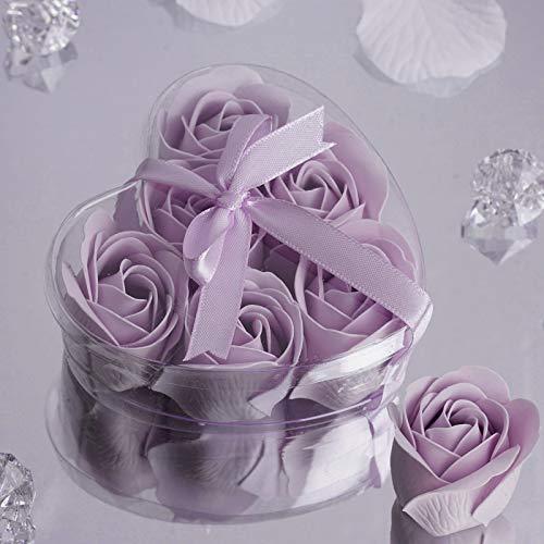 Efavormart Lot of 50 Birthday Banquet Event Wedding Decoration Party Favor Heart Rose Soap Petals| Color| Lavender