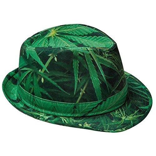 Amakando Fedora cáñamo Sombrero Marihuana Hippie Gorro Hombre grifa Sombrero Carnaval Paz Gorro Verano Hierba Gorra fumeta