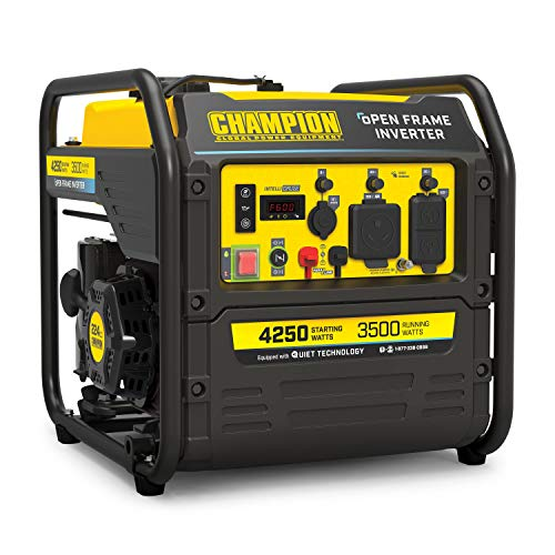 Champion Power Equipment 200954 4250-Watt RV Ready Open Frame Inverter Generator, Quiet Technology