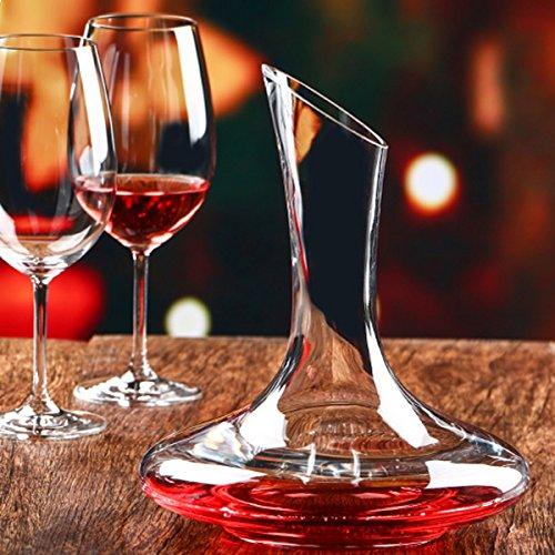 Inovey 1500Ml Elegante Bleifreie Kristallglas Wein Dekanter Rotwein Karaffe Belüftungsgerät Wein Ausgießer