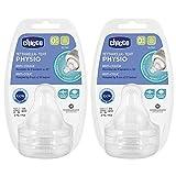 Chicco Perfect -5 - Juego de tetinas (4 unidades) Tetinas suaves de silicona para la sensación, talla 0 a partir de 0 meses + Fabricado en Italia.