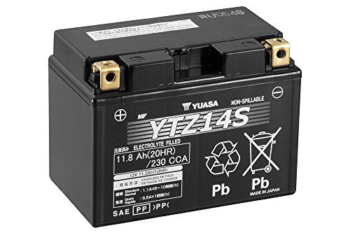 Batterie YUASA YTZ14S, 12V/11,2AH (Maße: 150x87x110) für Yamaha FZ1 /Fazer Baujahr 2012