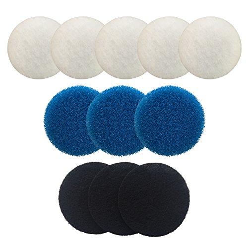 Finest-Filters - Juego de filtros compatibles con Eheim Classic 2217 (incluye 5 poly, 3 espumas gruesas, 3 espumas de carbono)