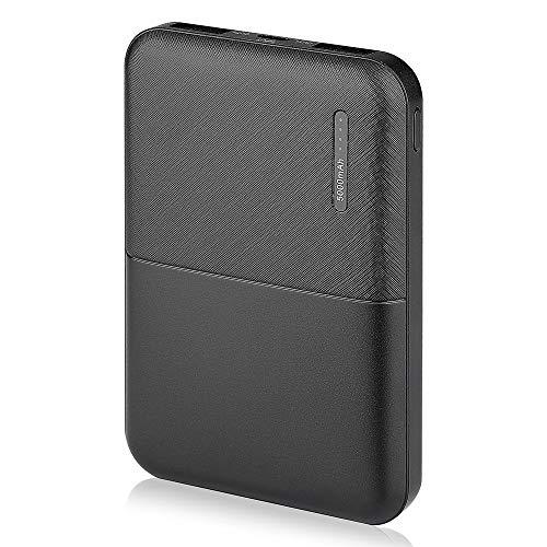 Verolino V-TAC 5000mAh Power Bank Cargador Móvil Portátil, Batería Externa para iPhone, iPad Samsung Huawei Xiaomi Dispositivos Android (Negro)