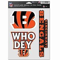 NFL シンシナティ・ベンガルズ デカール 多目的ファン 3パック チームカラー ワンサイズ