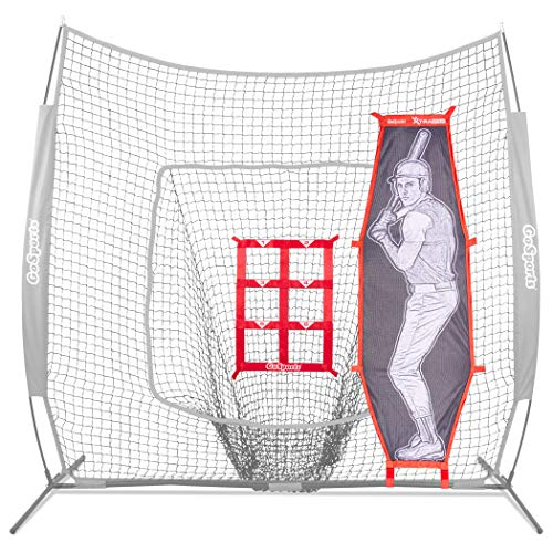 GoSports Baseball & Softball Pitching Kit | Practice Accuracy Training with Strike Zone & Xtraman Dummy Batter