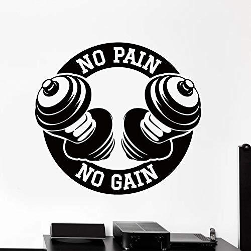 BFMBCH Keine Schmerzen, keine Ernte, Wandsticker, Fitnessübungen, Hanteln, Heimtextilien, Schlafzimmer Wohnzimmerdekoration, Wandsticker A1 30x32cm