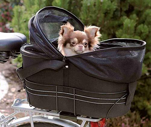 Trixie fietsmand met openschuifbaar kapje voor bagedrager 29x42x48