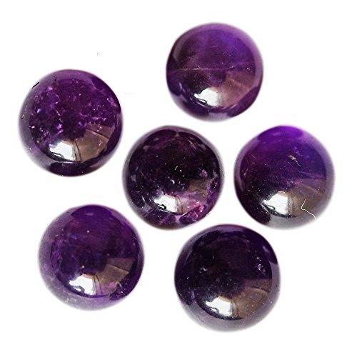 18 mm, forma redonda, amatista, lote de gemas, piedra preciosa calibrada, gemas al por mayor, piedra semipreciosa, piedra preciosa para joyería AM 18 mm