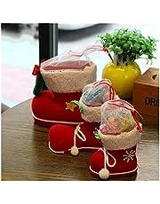 Jfsmgs Kerst Sokken Kerst Laarzen Candy Box Gift Bag Halloween Present Decoraties Xmas Sokken Home Decor Ontwerp Nieuwjaar Festival Snoepjes Supplies (Kleur: L rood)