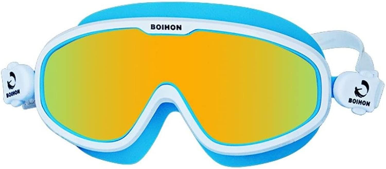 Fineser boihon水泳ゴーグルSwim Goggles、Professional Anti Fog no leaking UV保護Wide View Swim Goggles forレディースメンズ大人用ユース