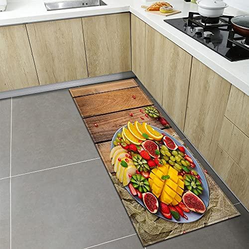 OPLJ Alfombra de Cocina Moderna, Alfombra de la Puerta de Entrada de la Sala de Estar Junto a la Cama del hogar, Alfombra de Piso Absorbente Antideslizante para baño A15 50x160cm
