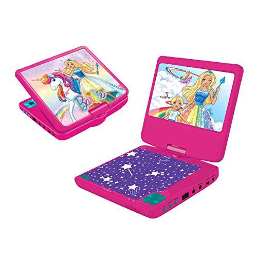 "Lexibook DVDP6BB Barbie Tragbarer DVD-Spieler, 7"" LCD, 2 Lautsprecher, Akku, pink"
