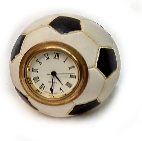 居家度假装饰迷你书桌时钟足球