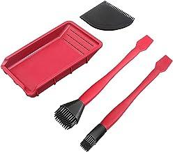 NeeyBing Siliconen lijm kit, muren en plafonds verfborstel, wandmeubelen verfgereedschap reinigingsborstels, set van 4 stuks