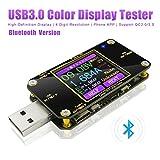 Voltaje USB y probador de corriente con Bluetooth Multímetro digital Amperímetro USB multifuncional probador voltímetro