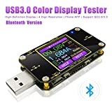 USB Spannungsprüfer USB Tester Multimeter Typ-C Voltmeter PD Amperemeter mit Bluetooth Messgerät...