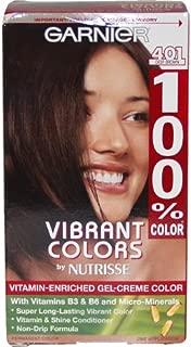 100% Color Vitamin Enriched Gel-Creme Color #401 Deep Brown By Garnier