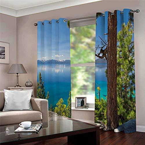 cortinas salon 2 piezas opacas