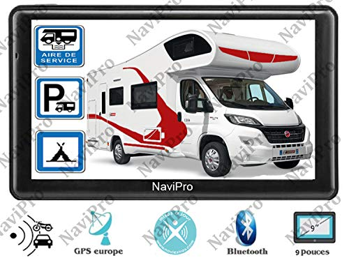 GPS Camping Car 9 Pouces Europe A Vie - Aires DE Camping