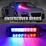 SARTE 8 Led Police Flash Light With Dashboard Suction Cups For All Cars