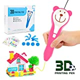 Gifts for 3-10 Year Old Girls Seckton 3D Pen for Kids Intelligent 3D