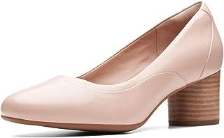 حذاء مع كعب للنساء من كلاركس، المقاس, (زهري), 5 UK