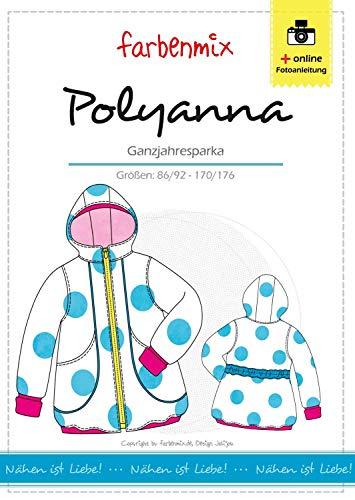 Farbenmix Polyanna Schnittmuster (Papierschnittmuster für die Größen 86/92-170/176), Wohlfühl-Parka-Mantel