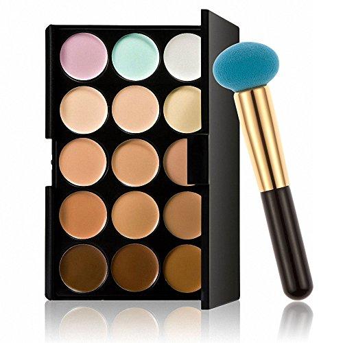 Correcteur Crème de Camouflage pour Maquillage Anticernes 15 couleurs cosmétique visage - houppe à poudre champignon