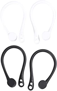 UKCOCO Kompatibel med AirPods öronkrok - 2 par silikon halkfria öronsnäckor krok trådlösa hörlurar krokar för löpning, cyk...