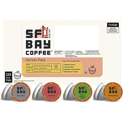 120CT SF Bay Coffee Variety Pack Coffee Pods K Cup for 34.19