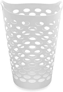 "Starplast Tall Flex Laundry Basket (17.75"" x 17.25"" x 26"", White)"