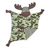 Apple Park Organic Farm Buddies - Marshall Moose Blankie, Blanket Baby Toy for Newborns, Infants, Toddlers - Hypoallergenic, 100% Organic Cotton