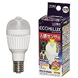 エコルクス LED電球 人感センサー E17 3.9W 昼白色 LDA3L‐H‐E17SV 箱1個