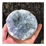 YELVQI Cristal de curación Cielo Natural Azul Cristal Cluster Mineral Espécimen Decoración de la Boda Decoración del Acuario