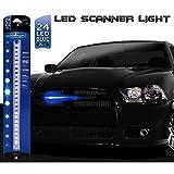 Rider Nightz 1205752 Scanner 24 LED, Blu, 25 cm