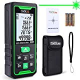 TACKLIFE Laser Measure,60M Green Laser Beam,Laser Distance Meters of 99 Data Hold,Angle,Pythagorean,Distance,Area