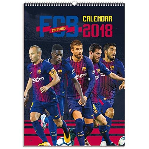 Grupo Erik Editores CPA318003 - Calendario 2018 con diseño Fc Barcelona, 29.7 x 42 cm