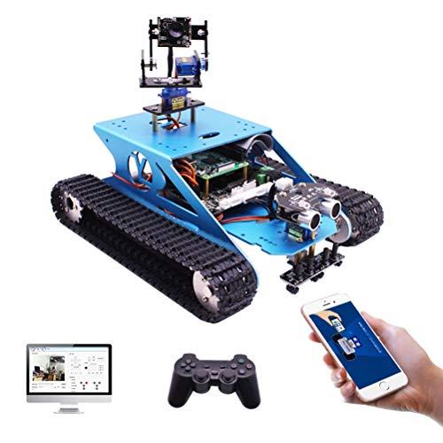 ANAN Robot Car Starter Kit con Brazo robótico 2-DOF, Robot orugas Raspberry Pi 4B, Smart Car Kit con transmisión Video 5G HD en Tiempo Real, Soporte teléfono móvil con Sistema Android/iOS
