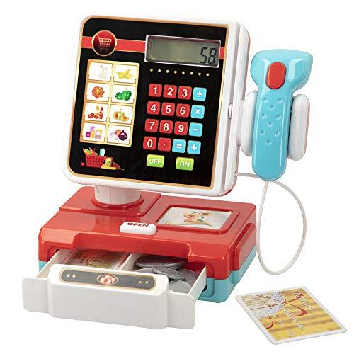 ColorBaby - Caja registradora con luz, sonido y accesorios My Market (46588)