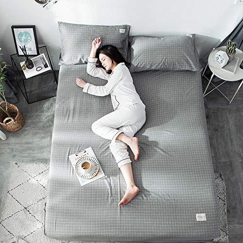 GTWOZNB Protector de colchón Acolchado - Microfibra - Transpirable Sábana de algodón simple-13_180 * 200cm