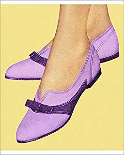 10x8 Print of Women s Purple Shoes (19772077)
