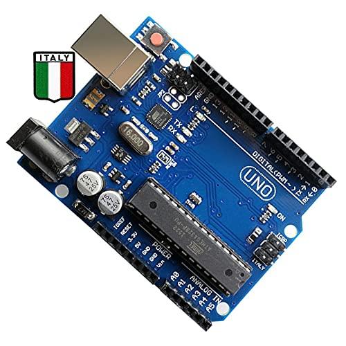 Placa Italy Para Arduíno Uno R3 Mega328p Atmega16u2 d