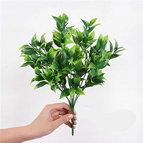 Htipdfg Fake plant Cheap artificial plant fern grass wedding wall decoration green leaf artificial flower plastic fake plant home garden decoration Decorative Artificial Plants (Color : 2)