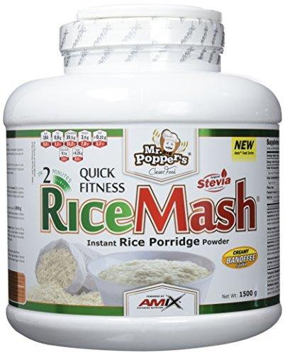 AMIX - Suplemento Alimenticio - RiceMash en Formato de 1,5 kilos - Gran Aporte Nutritivo y Saciante - Contenido Rico en Carbohidratos - Sabor a Banoffee
