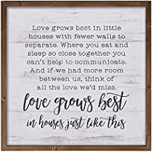 P. Graham Dunn Love Grows Best in Houses Like This 22.5 x 22.5 Wood Farmhouse Frame Wall Plaque