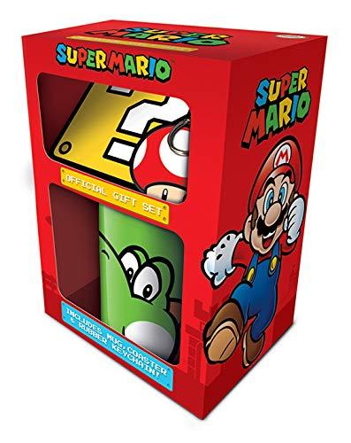Super Mario 'Yoshi' beker, onderzetter en sleutelhanger ingesteld, 11 oz/315 ml