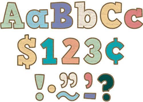 """Teacher Created Resources Painted Wood Bold Block 4"""" Letters Combo Pack (TCR8820)"""
